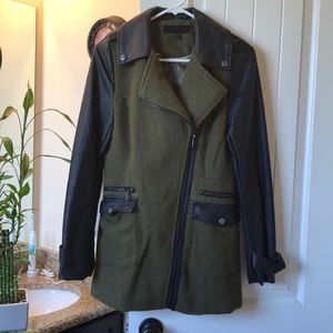 Steve madden faux leather trench coat